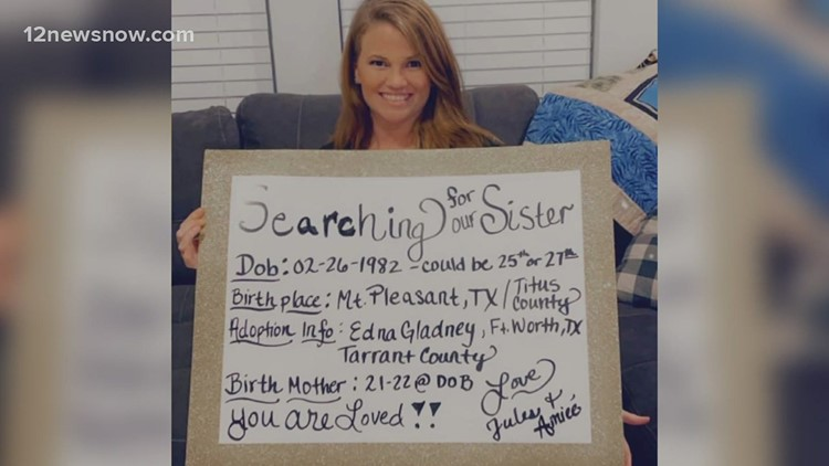 Southeast Texas woman finds one sister, both searching for other long-lost sister