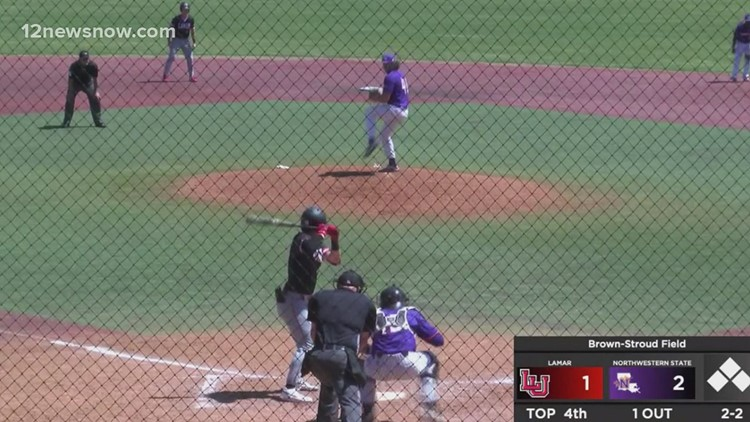 Lamar records a series split with Northwestern State