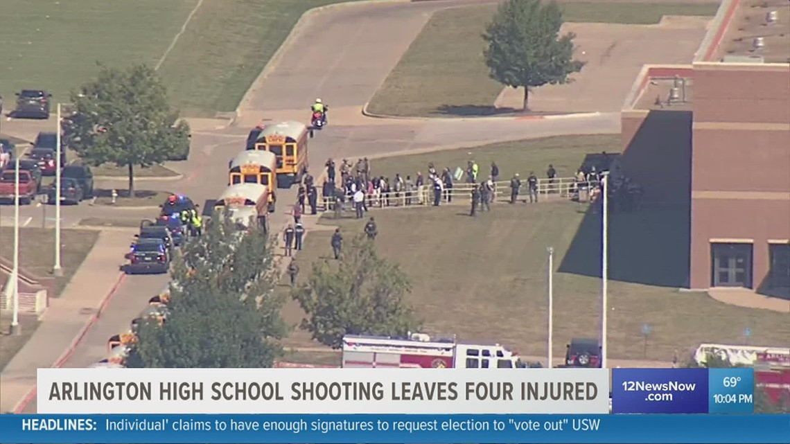 4 injured in Arlington High School shooting; Shooter turns himself in to north Texas police