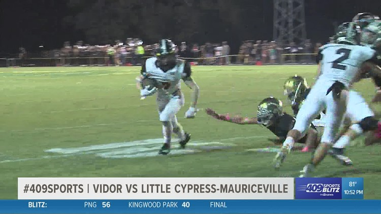 Vidor High School remains undefeated with big win over Little Cypress-Mauriceville in the Game of the Week