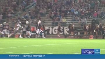 Silsbee High School's K'Drian Cartwright reels one in for the play of the week