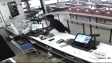 Police looking for suspect seen on video stealing cash from register at Port Arthur business
