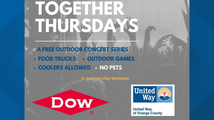 United Way and Dow team up to provide free outdoor concert series at Orange Riverside Pavilion