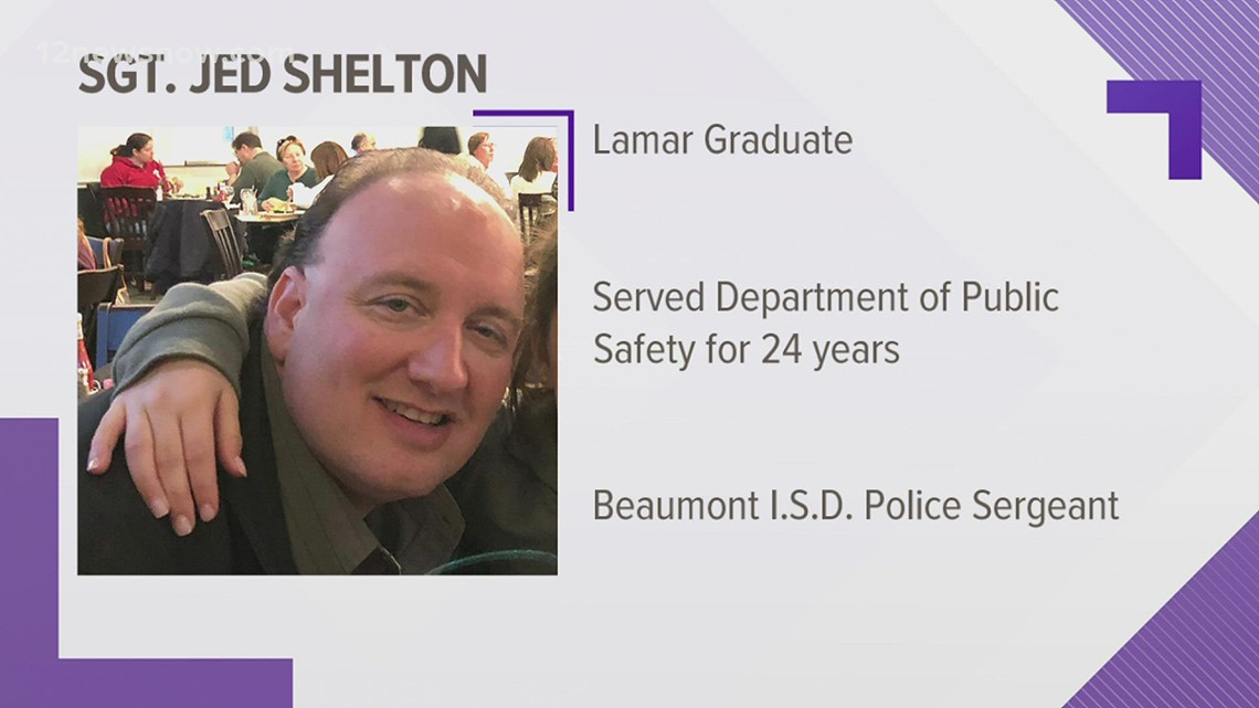 Beaumont ISD police Sgt Jed Shelton dies from COVID-19 at 50