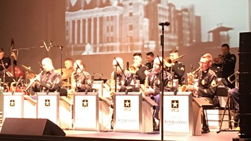 Jazz Ambassadors of US Army Field Band perform in Port Arthur