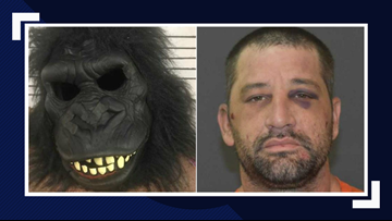 Man in gorilla suit arrested in possession of meth in Sulphur Wednesday