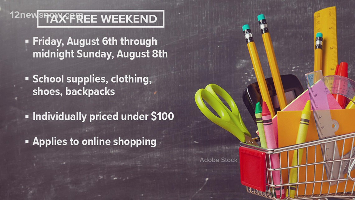 Tax free weekend starts Aug. 6 and ends Aug. 8