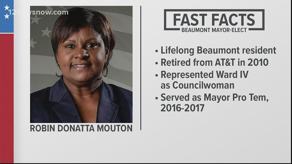 Here's some facts about Beaumont's new mayor, Robin Mouton
