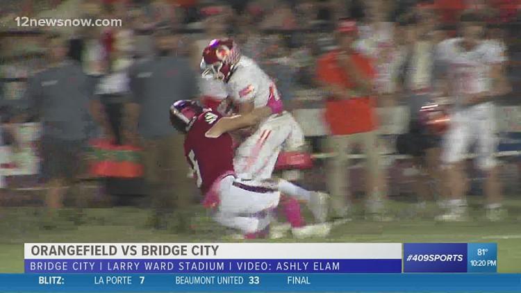 Orangefield High School scarfs the 'Bayou Bowl' from Bridge City 23 - 14
