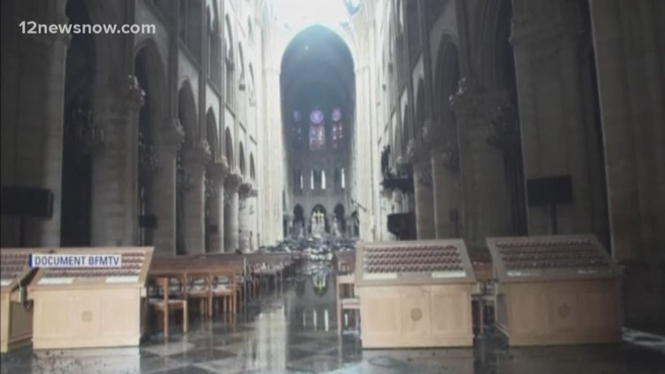 Most of t he art and artifacts remain safe after 12 hour blaze of Notre Dame Cathedral