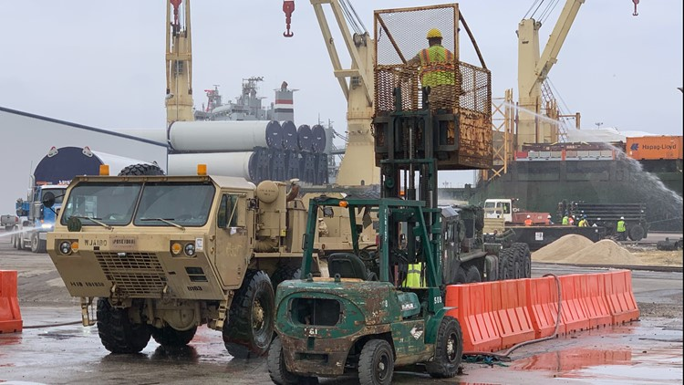 Army's 842nd Transportation Battalion and the Port of Beaumont equipment movement