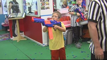 Getting kids away from technology and into some fun at 'Play Today' in Orange