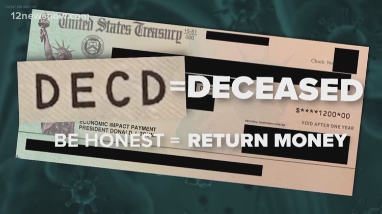 Dead Americans receiving stimulus checks, IRS wants the money back