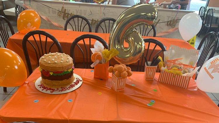Whataburger Vidor birthday party