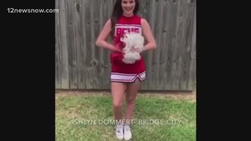 'Quarantined cheer video' | Southeast Texas cheerleaders work together to create virtual cheer video