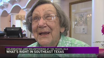 Southeast Texas woman still volunteers her time at 100-years-old