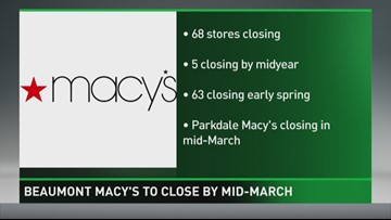 Macy's Store Closing in Mid March