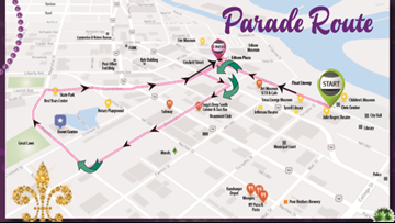 Downtown Beaumont parking, road closures during Mardi Gras Southeast Texas
