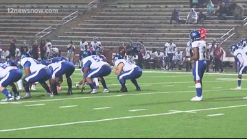 West Brook Bruins take on the Kingwood Mustangs in week 1 playoff high school football play