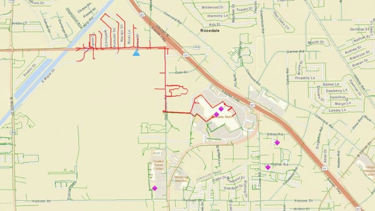 Parkdale Mall Entergy power outage map