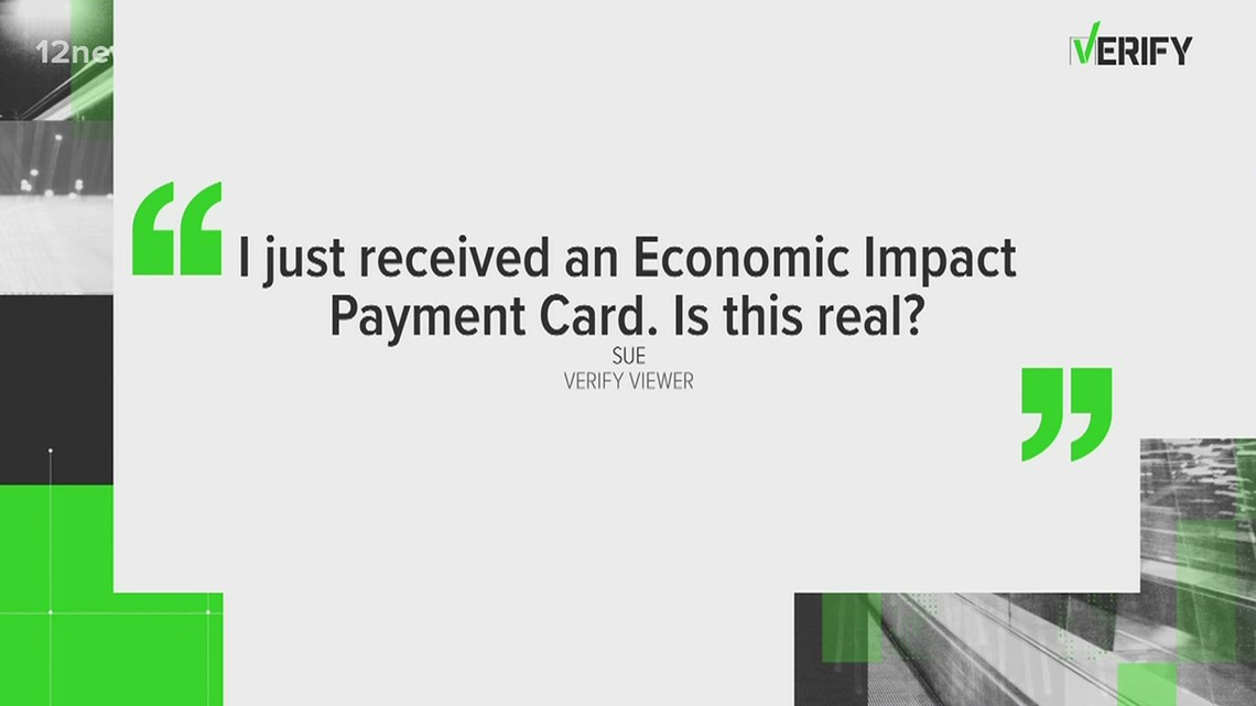 VERIFY: I just received an Economic Impact Payment Card. Is this real?