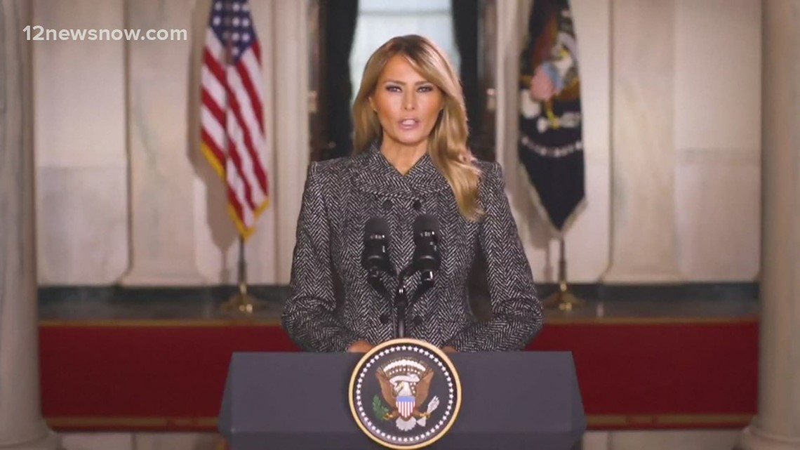 First lady Melania Trump shares farewell address