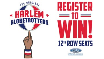 Win a pair of 12th row seats to see the Harlem Globetrotters