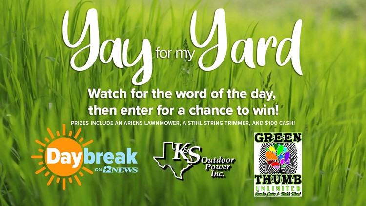 Enter to win $750 in lawn equipment in the 'Yay  For My Yard' contest