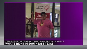 Bridge City teen defies the odds by competing in Special Olympics