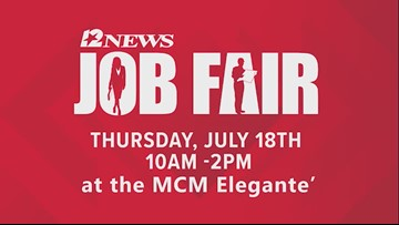 Don't miss the 2019 12News Job Fair in July