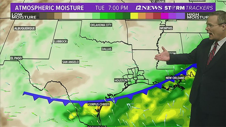 Stormy weather possible in SE Texas late Thursday