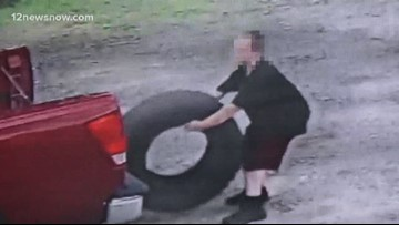 Adults, child caught on camera stealing tires from Orange County business
