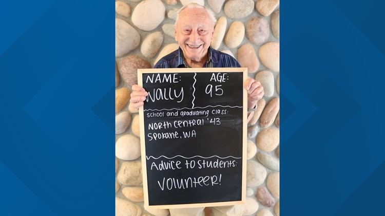 Retirement community members post 'back-to-school' photos with advice for students