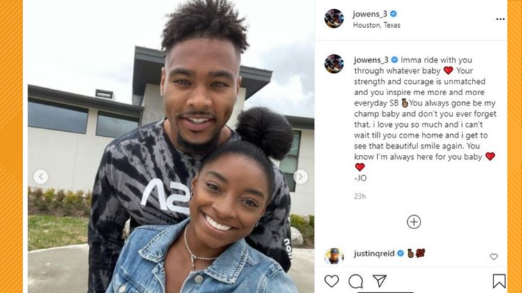Simone Biles' boyfriend sends sweet message of support after Olympics withdrawal