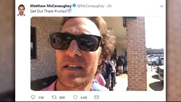 If Matthew McConaughey can stand in line to vote, so can you