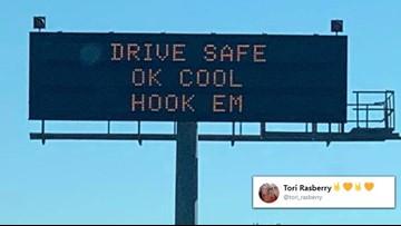 'OK, cool Hook 'Em': Texas coach Tom Herman's famous response is now a TxDOT sign