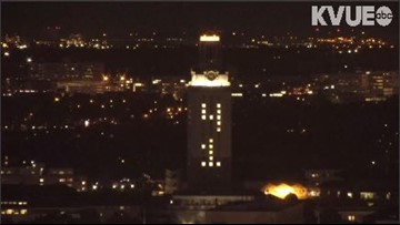 UT Tower lights up with No. 41 Wednesday in honor of President George H. W. Bush