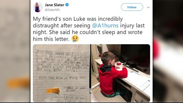 'I prayed four times for you' | Young Cowboys fan writes letter to Allen Hurns after gruesome injury