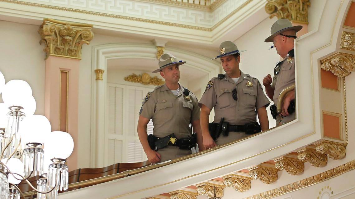 Red Liquid Thrown During California Senate Meeting