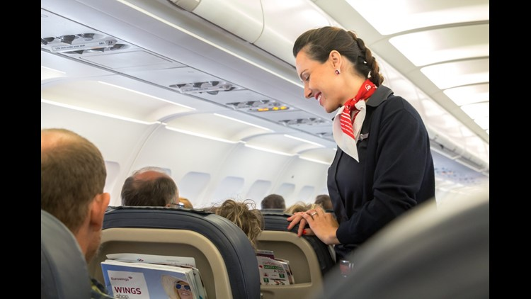 Look to the flight attendants to remind you that everything is fine when you feel stressed. They are used to all the bumps and noises that your plane makes and know when something is truly worrisome. (Photo By RUBEN M RAMOS/Shutterstock.com)
