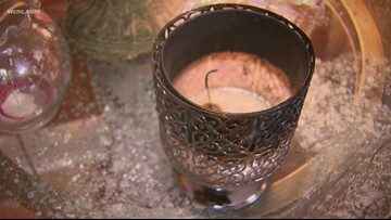 NC woman warning others after candle goes up in flames