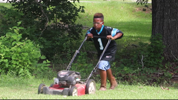 This 12-year-old in South Carolina is cutting grass so he can pay for college