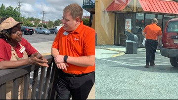 Chick-fil-A director gives Popeyes employees breakfast