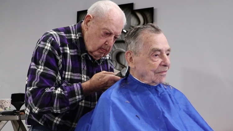 'I'll have to quit someday, but not today'   92-year-old Belmont barber has been cutting hair for more than 73 years