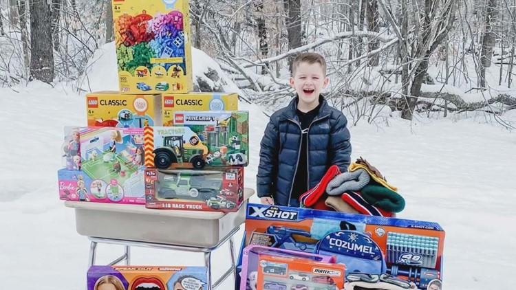 'I'm still going': 8-year-old Maine boy continues tradition of buying toys for kids in the hospital
