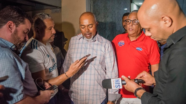 Leo Ortiz, David Ortiz's father, speaks to media