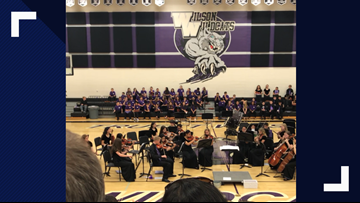 'Remember Me': Orchestra's surprise song brings North Texas middle school directors to tears