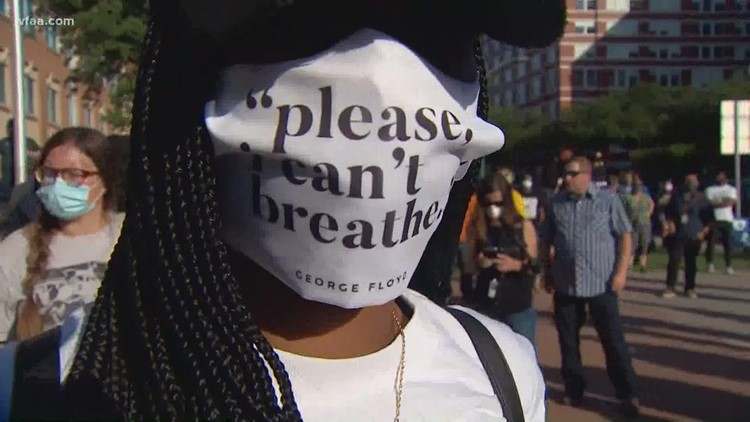 'I can't breathe': Protests in honor of George Floyd, Breonna Taylor take place in downtown Dallas and Fort Worth