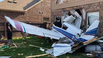 'It felt like an explosion': Plane crashes into McKinney home; two injured