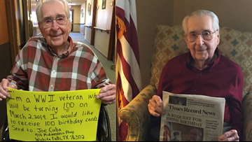 WWII Veteran Wants 100 Birthday Cards For His 100th Birthday on March 2